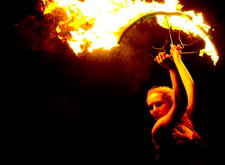 bollywood fire dancer