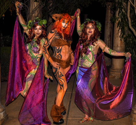 Body Painting Nymphs and Satyr