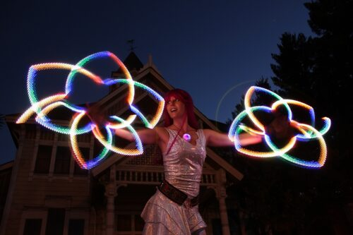 led spirograph doublestaff